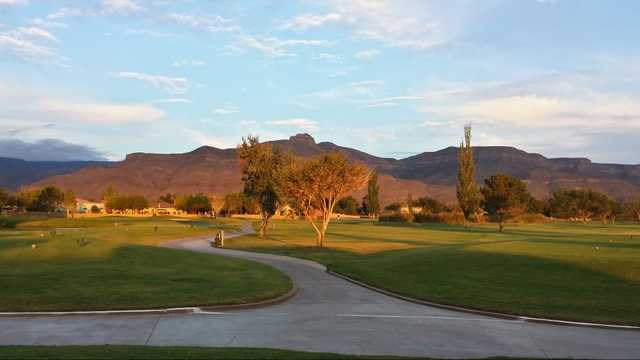 A view from Desert Lakes Golf Course
