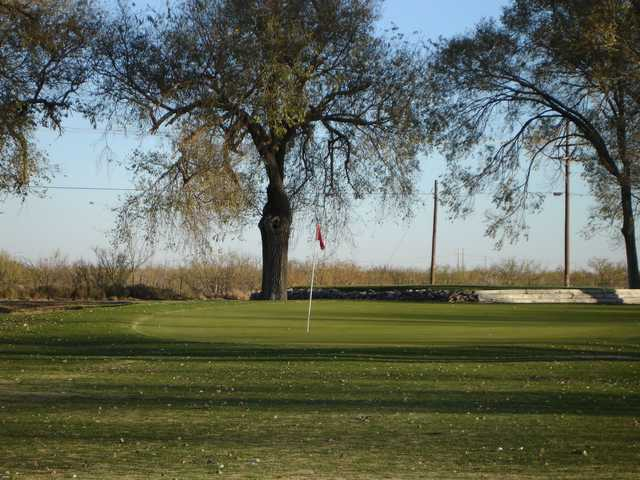A view of a hole at Hobbs Country Club