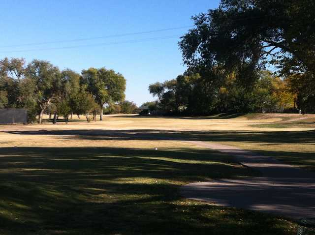 A view from a tee at Roswell Country Club