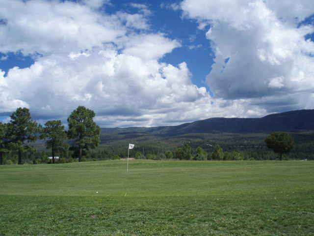 A view of the 1st hole at Timberon Golf & Country Club