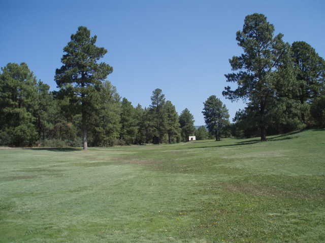 A view of fairway #6 at Timberon Golf & Country Club