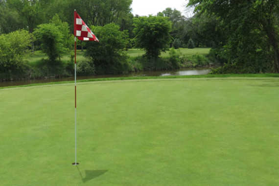 A view of the 4th hole at Willow Ridge Golf