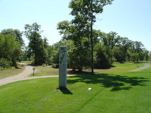 A view from a tee at Irish Oaks Golf Course