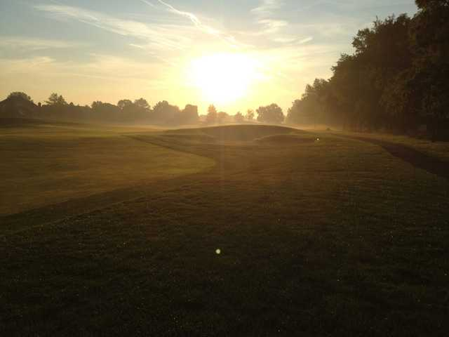 A sunny day view from Prestwick Village Golf Club