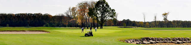 A view of a green at Hickory Hills Golf Course