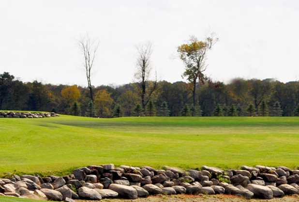 A sunny day view from Hickory Hills Golf Course