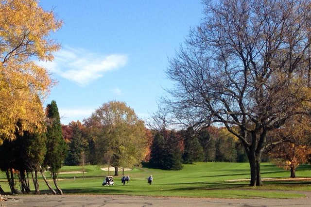 A fall view of a fairway at Country Club of Jackson