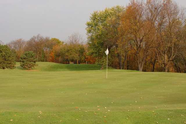 A view of a green at Grand Prairie Golf Course