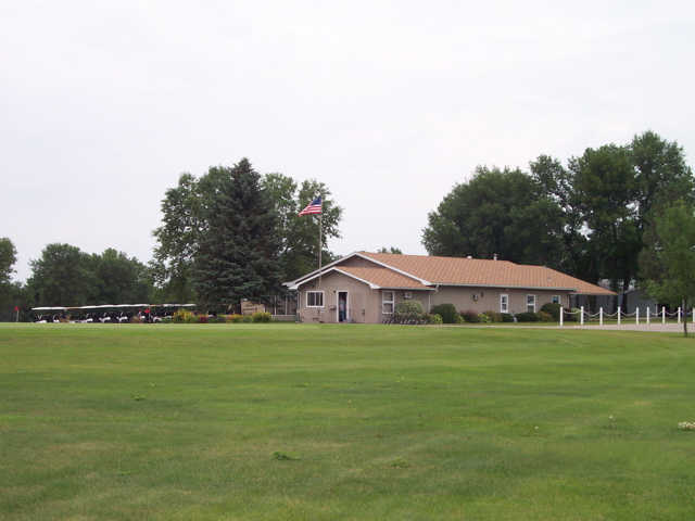 A view of the clubhouse at Mayville Golf Club