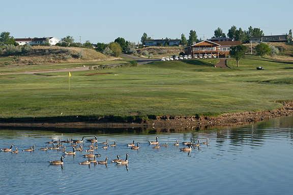 A view of the 18th green at Eagle Ridge Golf Club