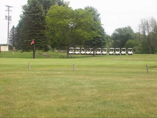 A view of the 9th hole at Willow Tree Golf Course