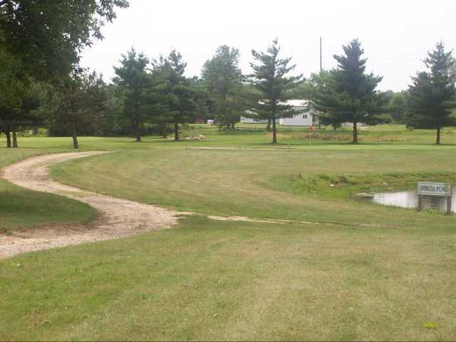 A view of hole #6 at Willow Tree Golf Course