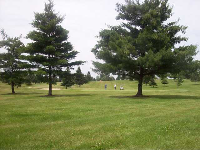 A view of the 7th green at Willow Tree Golf Course