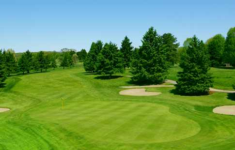 A view of a green at Chemung Hills Golf Club