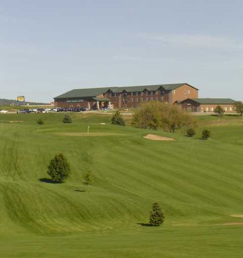A view of the 9th hole at Ridge at Deer Valley Golf Course