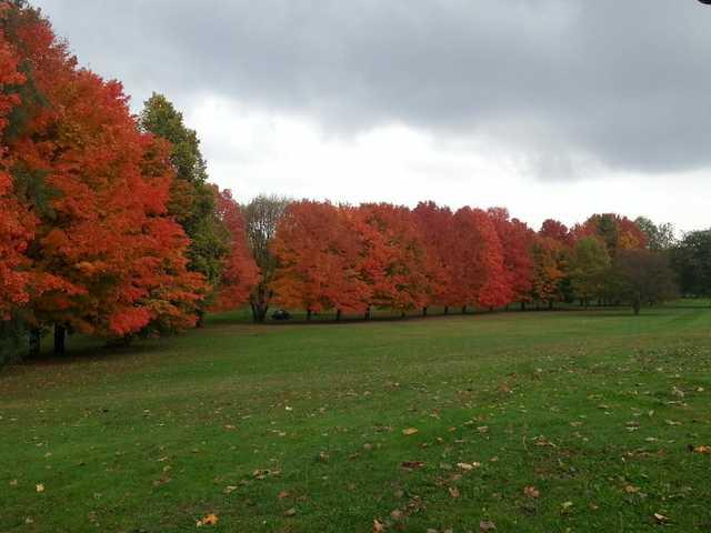 A splendid fall view from Alwyn Downs Golf Club