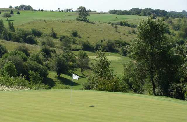 A view of the 6th hole at Valley Course at Deer Valley Golf Course