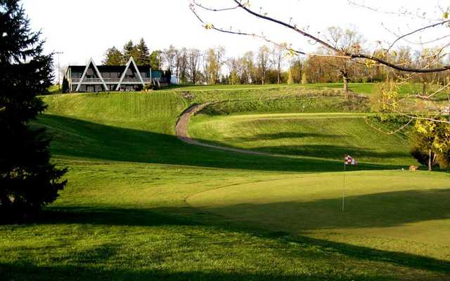 A view of a hole at Irish Hills Golf Course & Valley Resort.