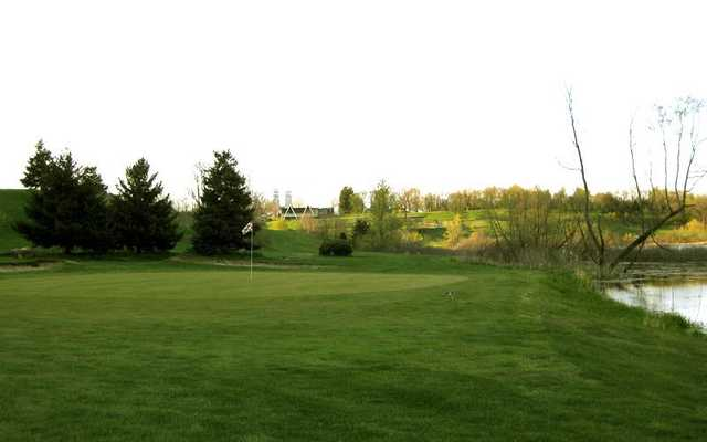 A view of a green at Irish Hills Golf Course & Valley Resort.