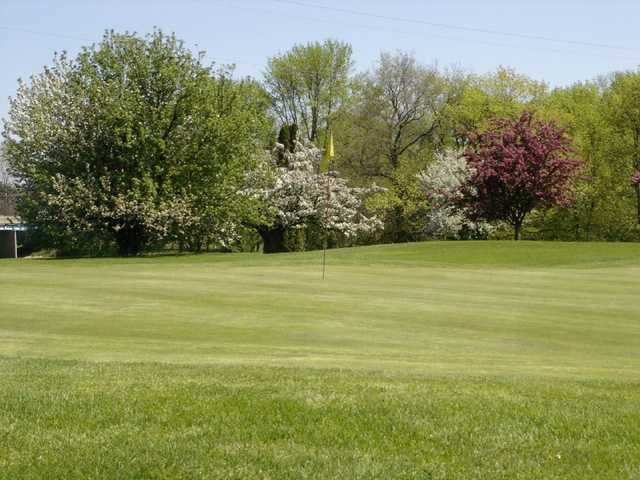 A view of a green from Crooked Creek Golf Club