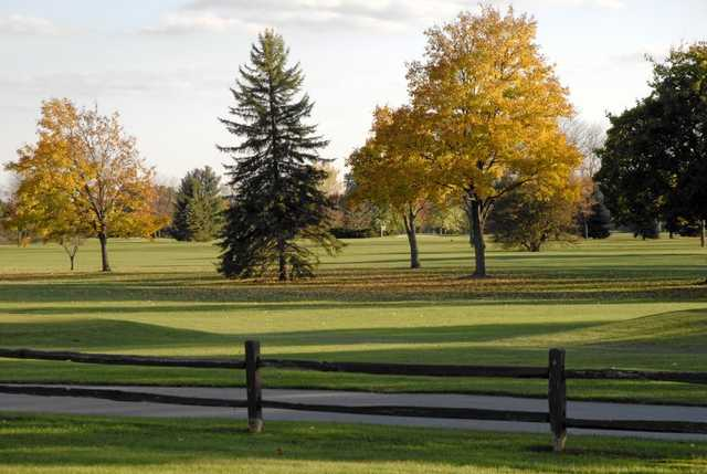 A fall view from Crooked Creek Golf Club