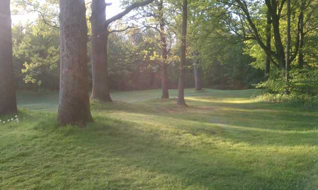 A view of hole #8 at Mueller's Valley View Farm Golf Course