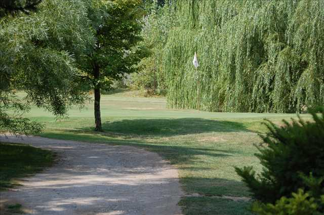 A view of a green at Pleasant View Golf Course
