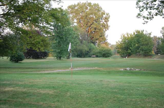 A view of a hole at Pleasant View Golf Course