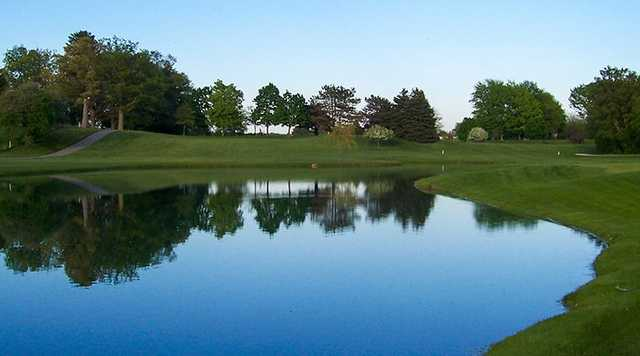 A view of fairway #1 at Swan Valley Golf Course.