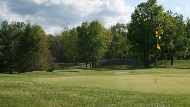 A view of the 9th hole at Irish from Bedford Hills Golf Club