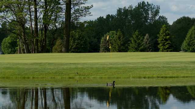 A view of hole #7 at Irish from Bedford Hills Golf Club