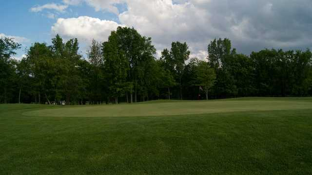 A view of the 1st green from Buckeye at Bedford Hills Golf Club