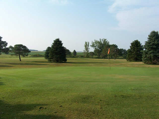 A view of green #6 at Clarks Grove Golf Course