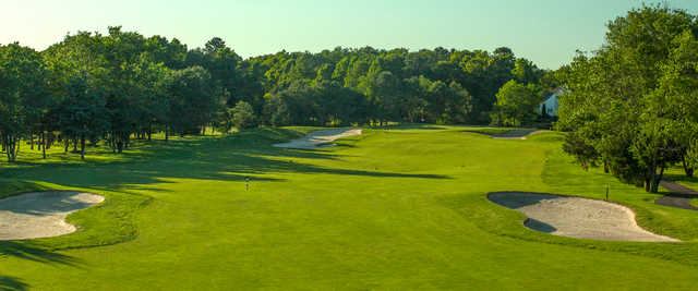View from no. 18 at Harbor Pines Golf Club.