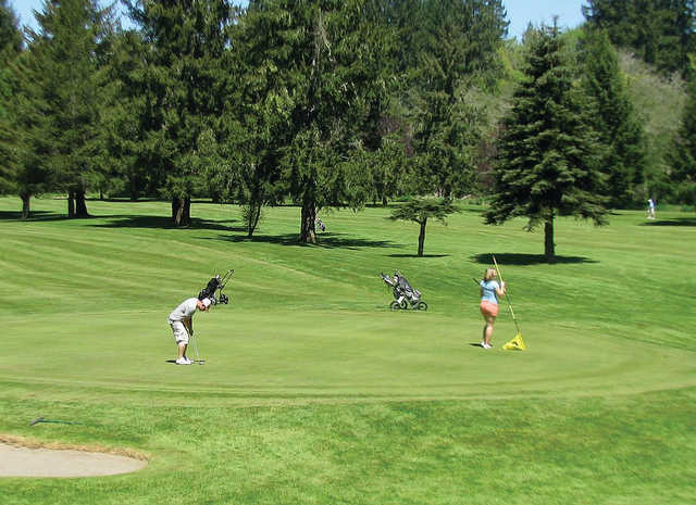 A view of a green at Vernonia Golf Club