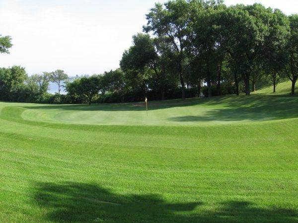 A view of green #10 at Pebble Lake Golf Club