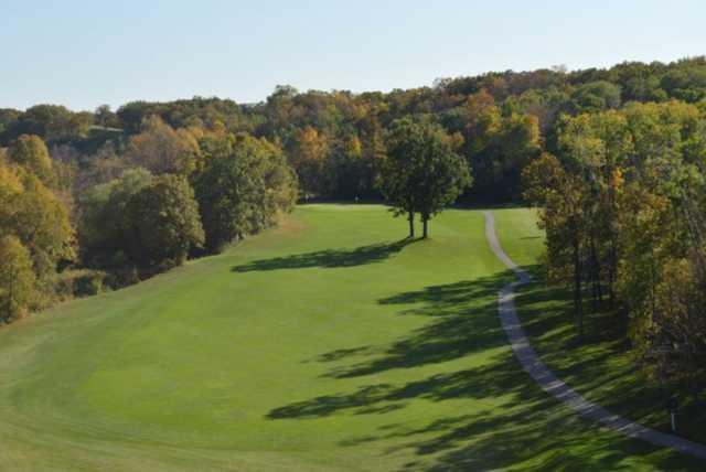 A view of a fairway at Sandhill River Golf Club