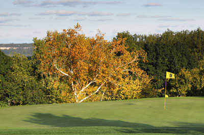 A view of hole #9 at Mount Frontenac Golf Course