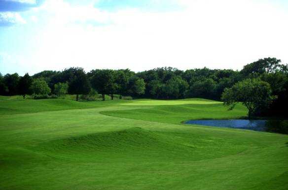 A view of hole #16 at Tangle Ridge Golf Club