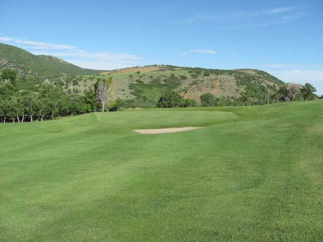A view of the 15th hole at Gladstan Golf Course