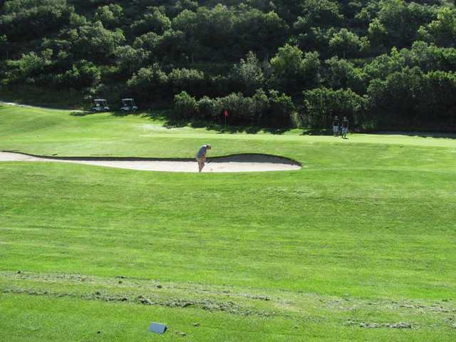 A view of the 13th hole at Gladstan Golf Course