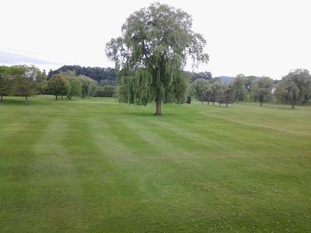 A view of a hole at Bradford Golf Club