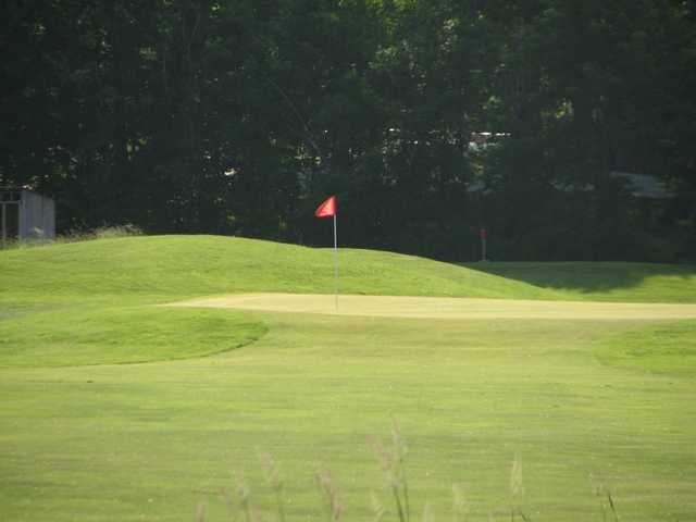 A view of the 9th green at Essex Country Club