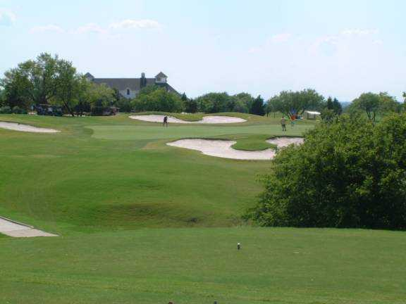 A view of the 9th green at Tangle Ridge Golf Club
