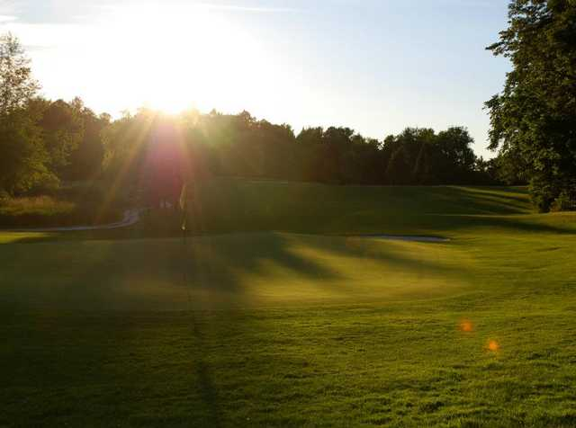 A view of a green at Cedar Knoll Country Club