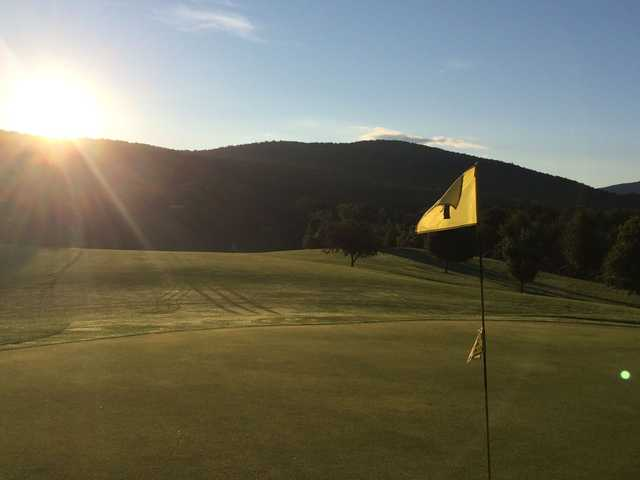 A view from a green at Cedar Knoll Country Club