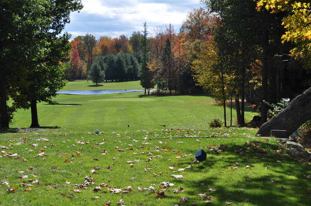 A view from a tee at Arrowhead Golf Course