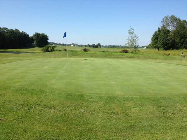 A view of a green at Arrowhead Golf Course