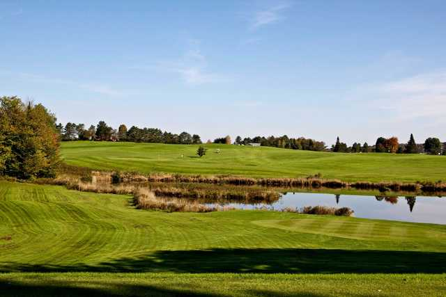A view over the water from Ryder Brook Golf Course