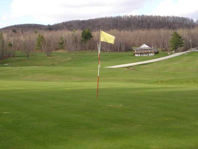 A view of the 1st hole at Richford Country Club